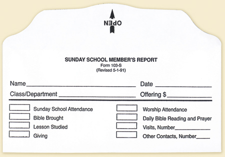how to make a sunday school report
