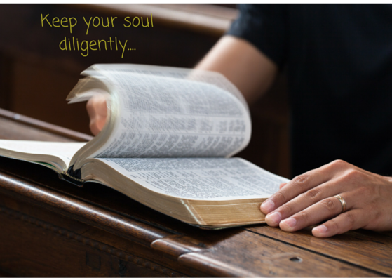 Keep your soul diligently....
